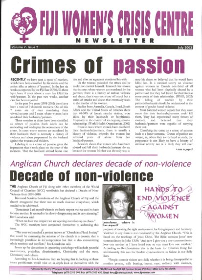 FWCC Issue July 2003