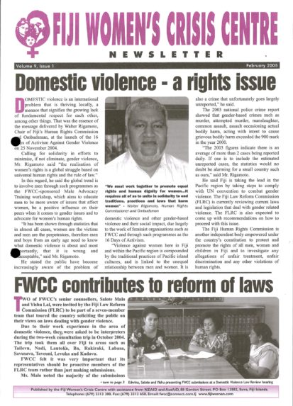 FWCC Issue February 2005