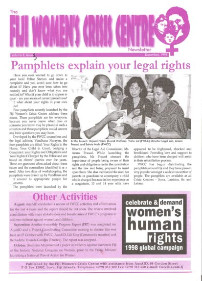 FWCC Issue December 1998