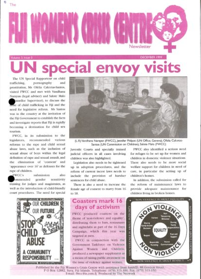 FWCC Issue December 1999