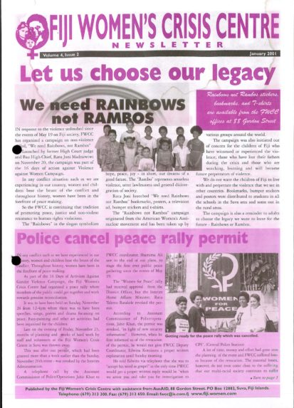 FWCC Issue January 2001