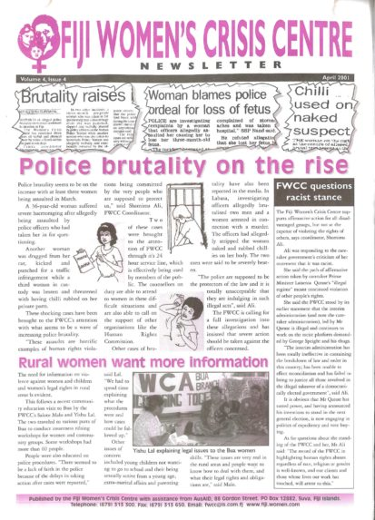 FWCC Issue April 2001