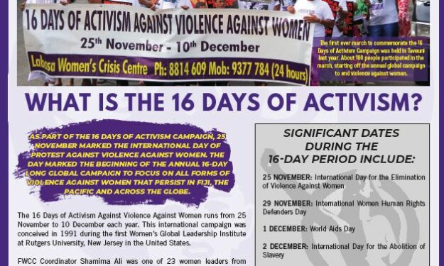 FWCC Marks 16 Days of Activism 2020
